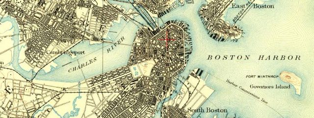 Historical Map of Boston